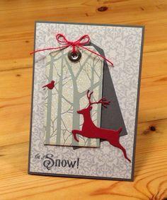 Beth's Little Card Blog: Reindeer tag card