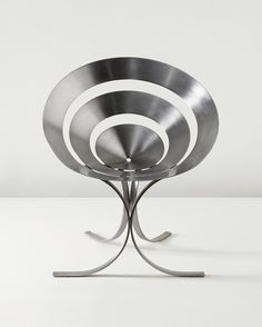 MARIA PERGAY, Ring chair, circa 1968. Stainless steel. Produced by Design Steel, France. / Phillips