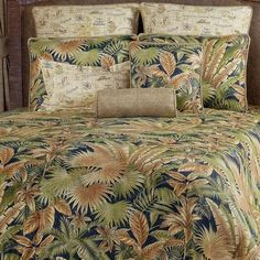 Discover the best palm tree comforters, quilts, duvet covers, and palm tree sheets to complete your tropical bedding set. Beach Bedding Sets, Coastal Bedding, Coastal Decor, Comforter Sets, Luxury Bedding, Coastal Quilts, Coastal Entryway, Coastal Rugs, Modern Coastal