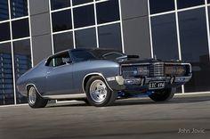 """Gunmetal Grey Ford Landau"" by John Jovic Australian Muscle Cars, Aussie Muscle Cars, Ford Ltd, Ford Falcon, Hot Rides, Classic Bikes, Car Painting, Impala, Old Cars"