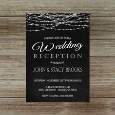 For Private Ceremonies The Reception Only Invite Wedding