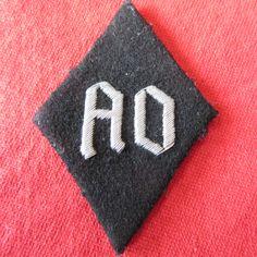 ALGEMEINE SS SLEEVE DIAMOND - AO worn by Officers ex members of NSDAP Auslands Organization Aluminium/Silver  71mm * 50mm Ref 14-71a more details @ www.ww2militaria.net