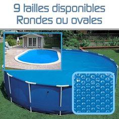 Linxor France ® Bâche à bulles ronde ou ovale 180 microns pour piscine intex ou autre… / 9 tailles disponibles / Norme CE