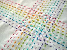 "One of my favorite quilting activities is to hand quilt using ""big ... : hand quilting stitch - Adamdwight.com"
