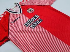 Well, it's been a roller coaster ride for #southampton since this #classicfootballshirts  Still one of our favourite #classicfootball #shirts  Visit us at www.classicfootballjerseys.com if ever you fancy browsing thousands of #vintage #football shirts Classic Football Shirts, Vintage Football, Soccer Shirts, Football Jerseys, Roller Coaster Ride, Southampton, Fancy, Retro, Tops