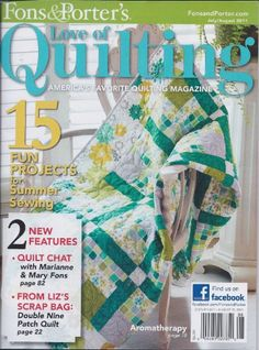 Fons & Porter Love of Quilting Magazine July/August « Library User Group   Love the colors on this quilt!