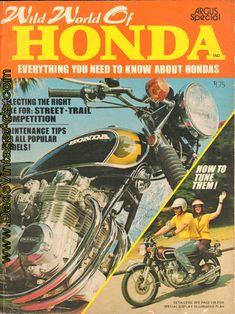 1972 Wild World of Honda Vintage Magazine Everything you need to know about Hondas Vintage Honda Motorcycles, Honda Bikes, Motocross Tracks, Honda Cb 500, Honda Motors, Gifts For Photographers, Square Photos, Flash Photography, Vintage Advertisements