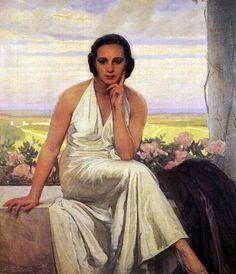 Retrato de Margarita Miguel, hija del pintor, 1936 - Anselmo Miguel Nieto (Valladolid, 1881 - 1964).