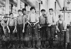 Boys working at the Ivey Mill Company, Hickory, North Carolina. Photography taken by Lewis Hine for the National Child Labor Committee. Image courtesy of Learn NC. Old Photos, Vintage Photos, Vintage Photographs, Peter And The Starcatcher, Lewis Hine, Cotton Mill, Factory Worker, Mother Jones, Working People