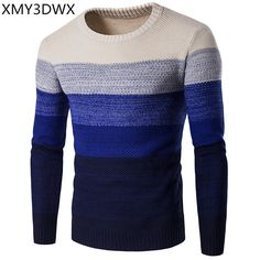 1b51fa96086ed9 NIBESSER Brand Casual Sweater O-Neck Striped Slim Fit Men Long Sleeve  Patchwork Male Pollover Sweater Thin Clothes agasalho masc. Men s Clothing  · Sweaters