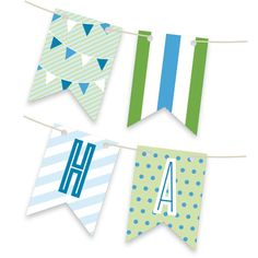 'Blue Big Top Circus Personalizable Bunting Banner', on Minted.com