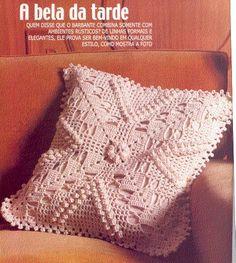 Cia das Agulhas: Almofadas de Crochê - Várias