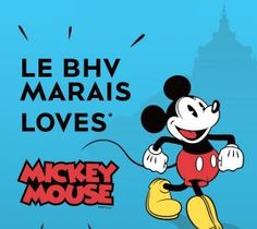 MICKEY MOUSE LOVES BHV MARAIS Paris Shopping, Mickey Mouse, Love, Fictional Characters, Amor, Fantasy Characters, Baby Mouse