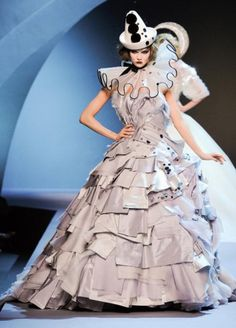 Christian Dior collection in Paris Haute Couture Fashion Show