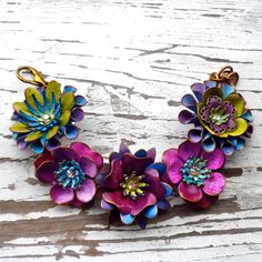 Beautiful flower jewellery by Wendy Baker as bendy who on Etsy.
