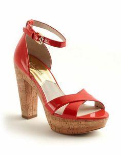 Michael Michael Kors Camilla Patent Leather Platform Sandals Mandarin