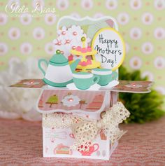 Happy Mothers Day - Tea Time Box Cards - (I) (L)ove (D)oing (A)ll Things Crafty!