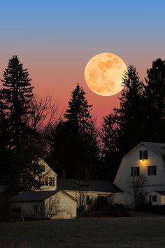 Moonrise, New Hampshire photo by larry