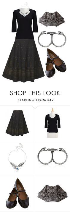 """""""Something Wicked This Way Comes"""" by waningmoon ❤ liked on Polyvore featuring eShakti, Bernard Delettrez, Pamela Love, Jeffrey Campbell and Alexander McQueen"""