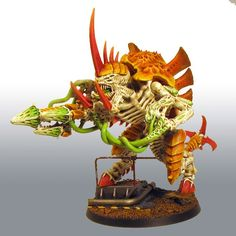 Tyranid Tyranofex w/ Brainlech-Hive; Spine-Banks;Tail-Scythe; Enhanced-Senses; Bio-Plasma Attack; & Tusked Biomorphs.