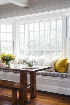 Diningroom decoration Dining Room Sets with Bench Seating Fresh Bay Window Breakfast Nook Bench Buyi Dining Room Windows, Dining Nook, Dining Room Sets, Bay Windows, Dining Room With Bench, Dining Table Bench Seat, Bay Window Living Room, Dining Tables, Outdoor Dining
