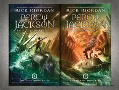 """New """"Percy Jackson"""" covers, books 1 and 2"""