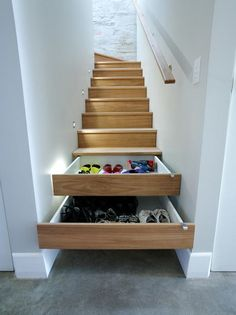 Staircase Drawers | Stair Ideas | Home Storage