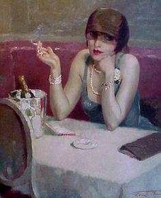 poboh:  Henri Thomas (1878-1972), La Belle Femme, 1920.