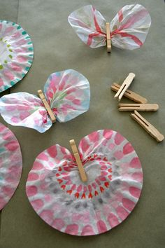 I'm putting together a Valentine project to do with 3 year olds-2nd graders. I had the idea to make butterflies from coffee filters and clothes pins, which there lots of samples of online. I'm hoping it's a craft that even...