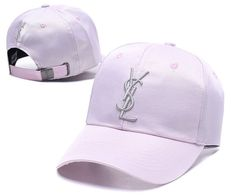 929b2087856 YSL Caps Yves Saint Lauren Embroidery Adjustable Dad Hat- Pink