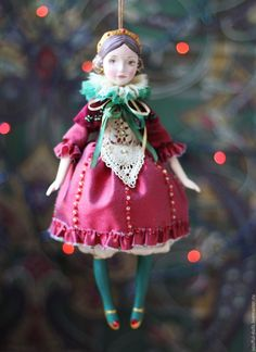 Porcelain Manufacturers In China Christmas Love, Christmas Images, Christmas Themes, Christmas Crafts, Christmas Ornaments, New Dolls, Ooak Dolls, Marionette, Art Costume
