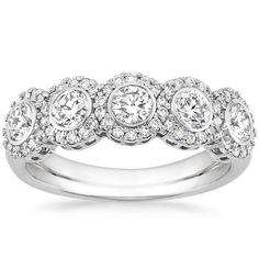 18K White Gold Quintessa Diamond Ring (1 ct. tw.) from Brilliant Earth