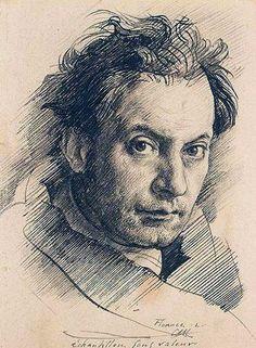 SELF, pen & ink, by Artist Pietro Annigoni