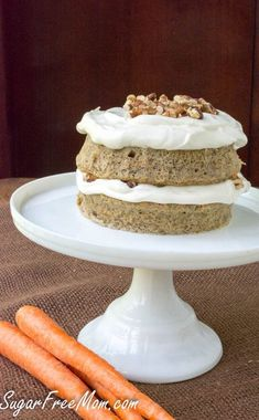 This Low Carb Carrot Cake Mug Cake is gluten free, made without sugar and grain free as well!
