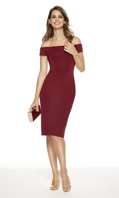 Alyce Paris - 27347 Off-Shoulder Jersey Fitted Dress