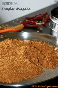 South Indian SAMBAR MASALA - an easy homemade recipe.