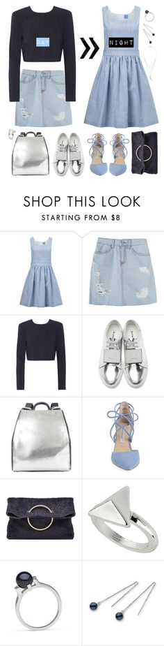 """""""Spring Day to Night"""" by thismay ❤ liked on Polyvore featuring macgraw, DKNY, Acne Studios, Ruxx, Kristin Cavallari, Victoria Beckham, Topshop, Charlotte Russe and daytoevening"""