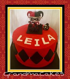 Suicide Watch / Harley Quinn Cake