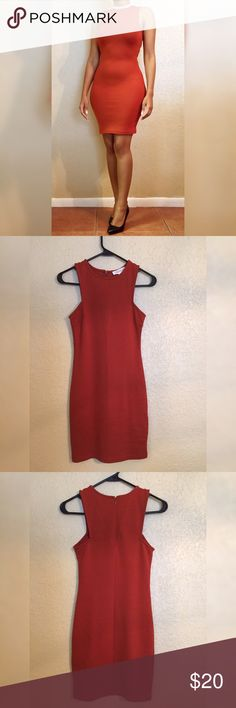 "Cinnamon Colored Beautiful Dress Never worn before! Like New! Length of dress is 33.5"". Bust is 28"". Waist is 24.5"". Forever 21 Dresses"