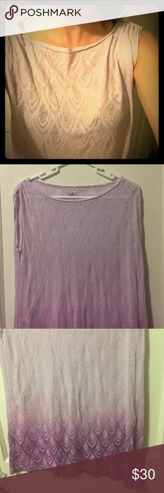 Prana pale pink translucent tank size small This translucent pink top drapes beautifully. It's in good used condition. Prana Tops Tank Tops