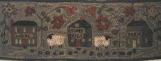 WM - WOOLTOWN - rug hooking pattern on linen