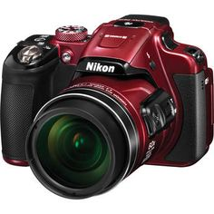 Nikon COOLPIX P610 Digital Camera (Red) 26489 B&H Photo Video