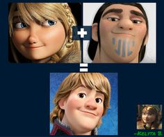 Kristoff is the son of Astrid & Eret!! :D