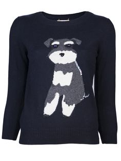 A sequined Schnauzer sweater?! Um, yes. I need this.