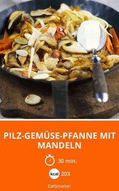 Pilz-Gemüse-Pfanne mit Mandeln - smarter - Kalorien: 203 Kcal - Zeit: 30 Min. | eatsmarter.de