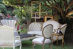 Furbish Vintage Rentals & Inspirations - Events & Photoshoots Gallery  outdoor vintage lounge area  www.furbishaustin.com