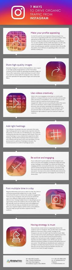 7 Ways to Drive Organic Website Traffic from Instagram [Infographic]