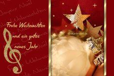 Frohe Weihnachten und ein gutes neues Jahr. Animierte Weihnachtskarte mit Glitzersternen