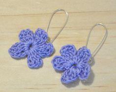 Crochet aretes joyas de ganchillo por HeadCred en Etsy