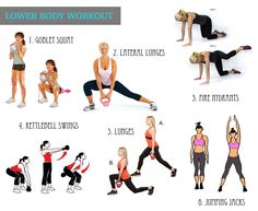 lower-body-workout Ultimate Ab Workout, Bum Workout, Workout Kettlebell, Week Workout, Cardio Workouts, Body Workouts, Workout Tips, Workout Plan For Women, Workout Programs